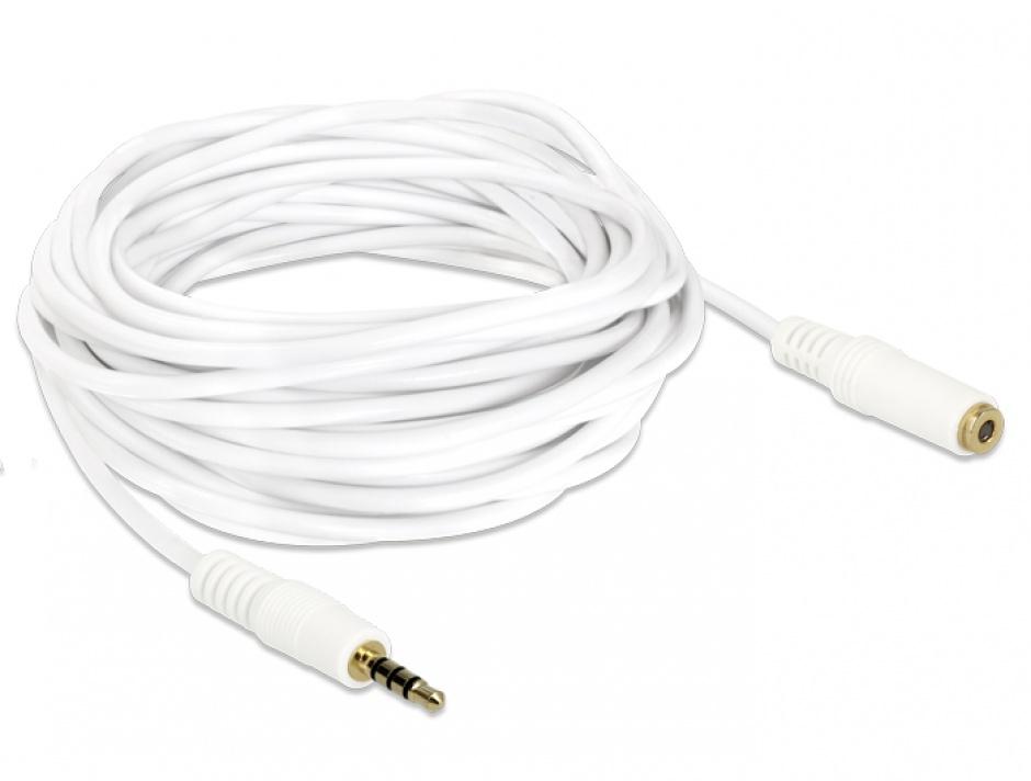 Imagine Cablu prelungitor audio jack 3.5mm 4 pini T-M 5m, Delock 84484