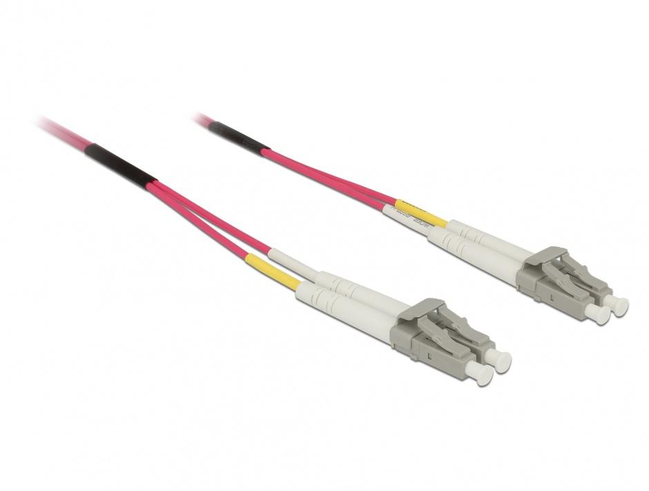 Imagine Cablu fibra optica LC- LC Multimode OM4 1m, Delock 84640