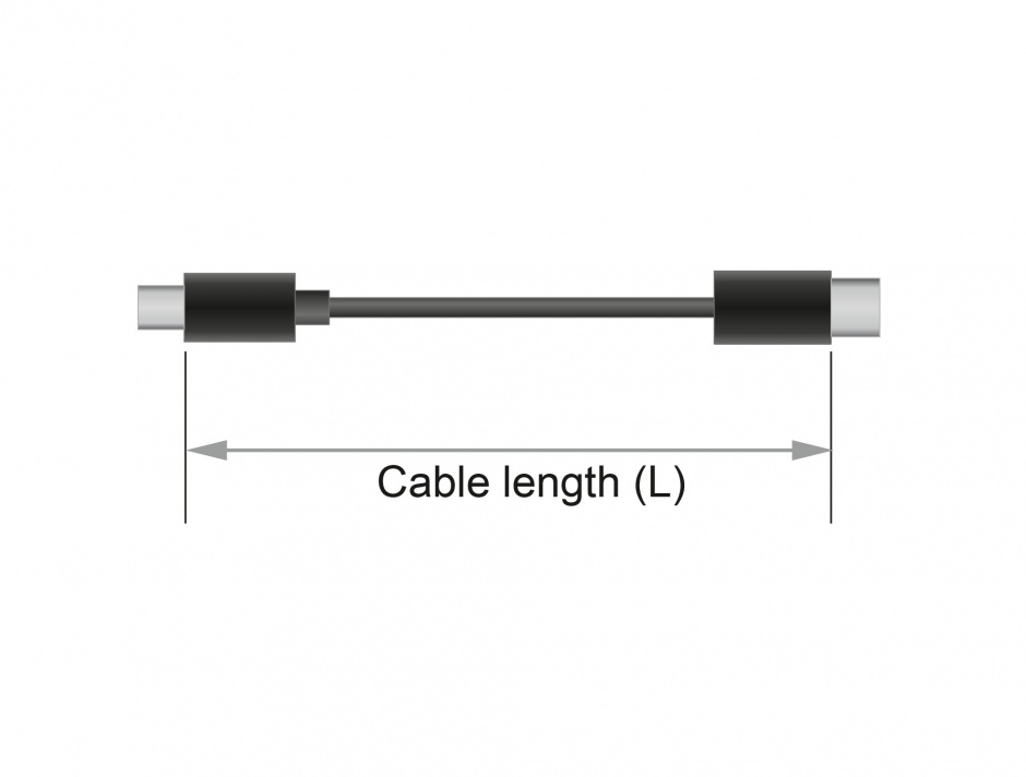 Imagine Cablu USB-C la HDMI (DP Alt Mode) 4K 60Hz T-T 2m coaxial, Delock 84905