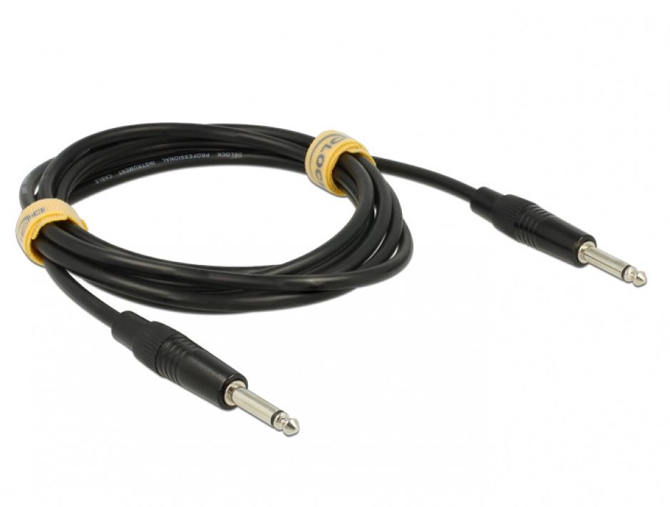 Imagine Cablu jack 6.35 mm Mono T-T 3m, Delock 85050