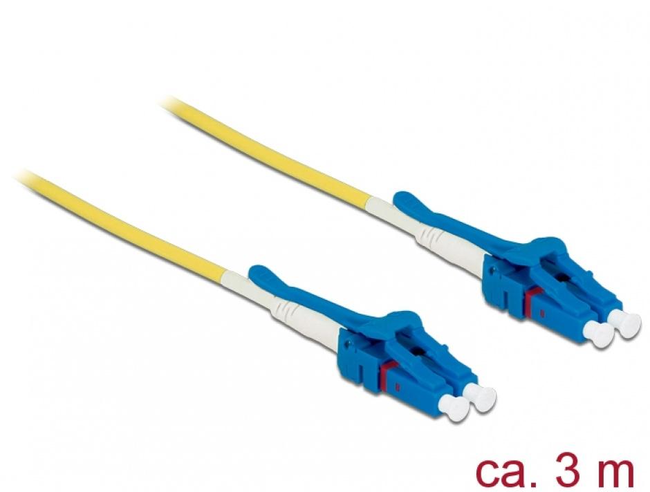 Imagine Cablu fibra optica LC - LC Singlemode OS2 Uniboot 5m, Delock 85086