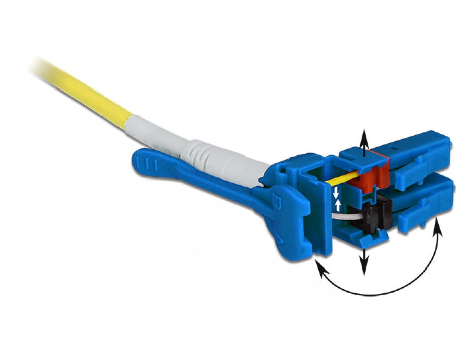 Imagine Cablu fibra optica LC - LC Singlemode OS2 Uniboot 10m, Delock 85087
