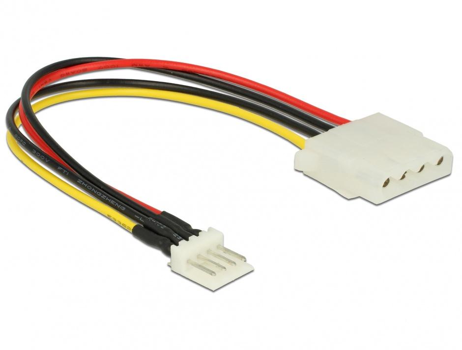 Imagine Cablu de alimentare Floppy 4 pini la Molex T-M 15cm, Delock 85456
