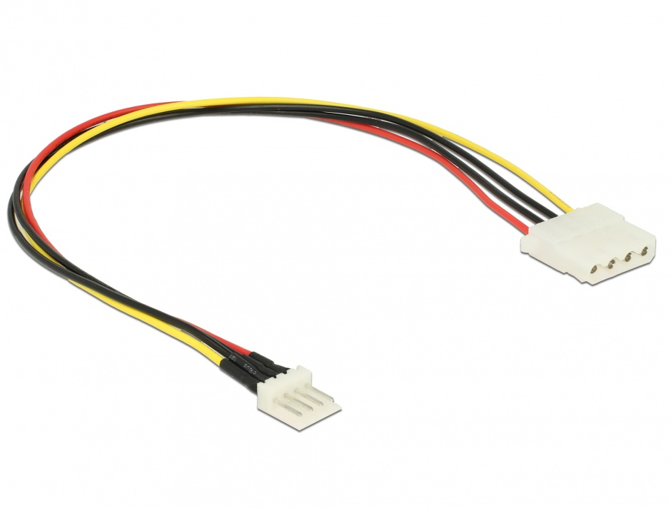 Imagine Cablu de alimentare Floppy 4 pini la Molex T-M 30cm, Delock 85457