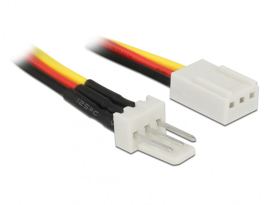 Imagine Cablu de alimentare ventilator 3 pini T-M 30cm, Delock 85753