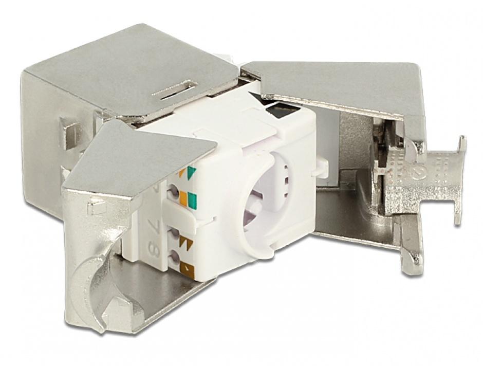 Imagine Modul Keystone la LSA Cat.6A STP compact, Delock 86179