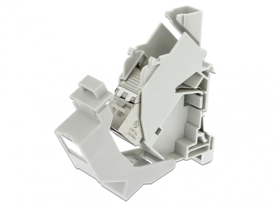 Imagine Carcasa Keystone pentru montare DIN rail cu protectie praf, Delock 86292