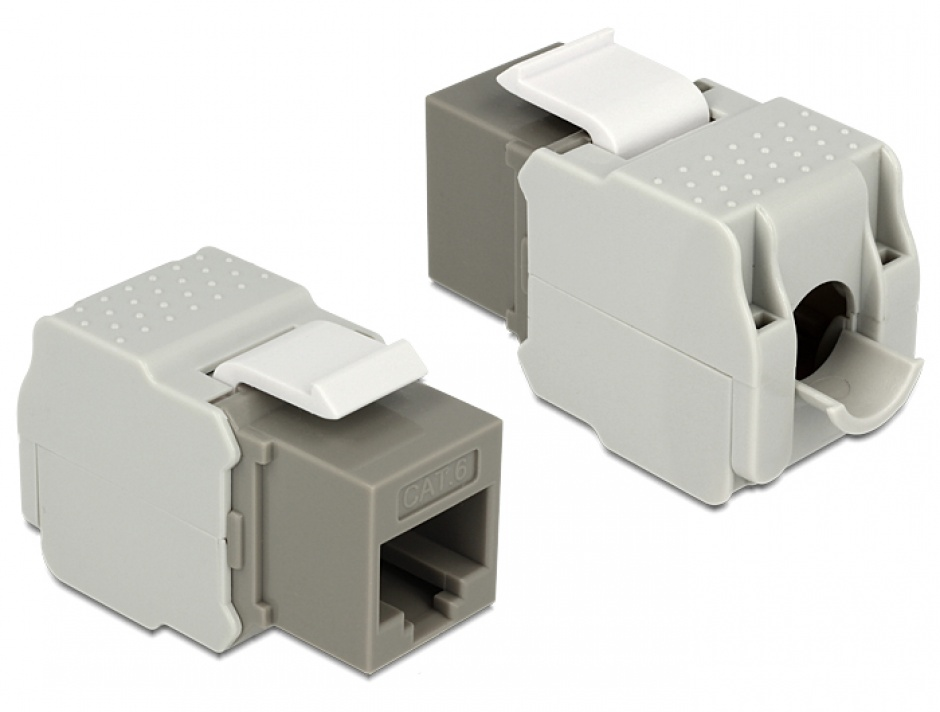 Imagine Modul Keystone RJ45 la LSA Cat.6 UTP Gri, Delock 86342