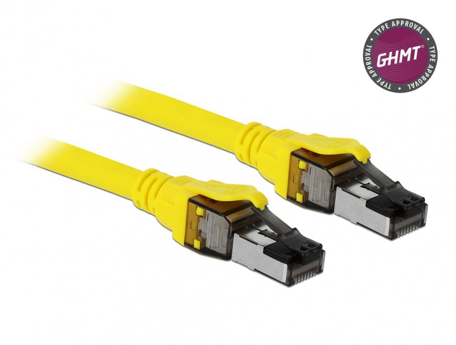 Imagine Cablu de retea RJ45 Cat.8.1 S/FTP 2m, Delock 86582
