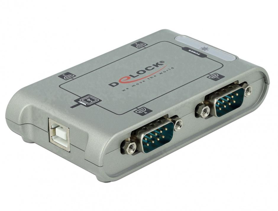 Imagine Adaptor USB la 4 x Serial RS-232, Delock 87414