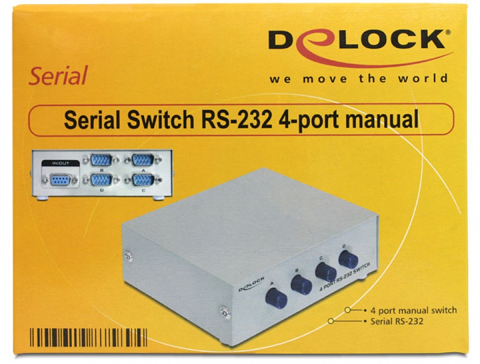 Imagine Switch Serial RS-232 4 porturi manual, Delock 87589