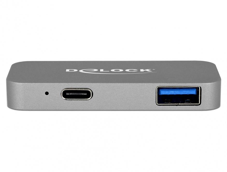 Imagine Mini docking station pentru Macbook 2 x Thunderbolt 3/USB-C la 1 x HDMI, 1 x USB-A, 1 x USB-C 5K, De