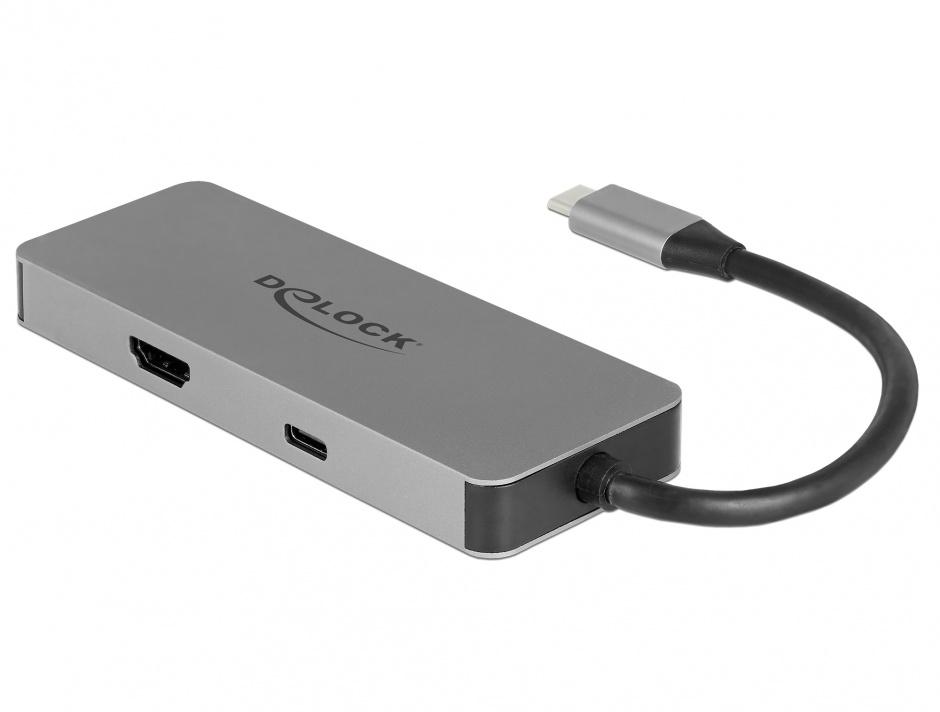 Imagine Docking Station pentru dispozitive mobile USB-C la HDMI 4K, 1 x USB 3.0-A, 2 x USB 2.0-A, SD, PD 2.0
