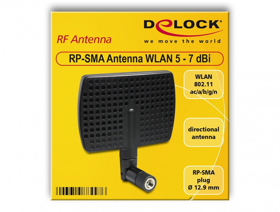 Imagine Antena WLAN RP-SMA directionala 5~7 dBi, Delock 88447