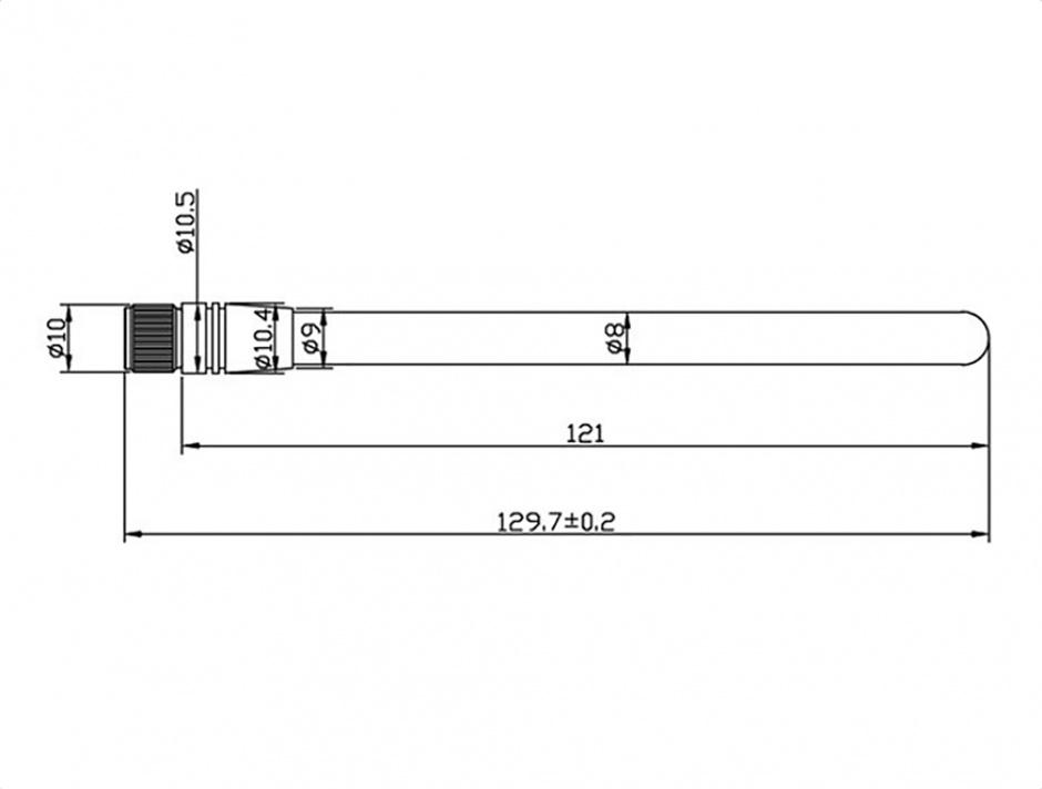 Imagine Antena ZigBee 868 MHz SMA 2 dBi omnidirectional fixed, Delock 88689