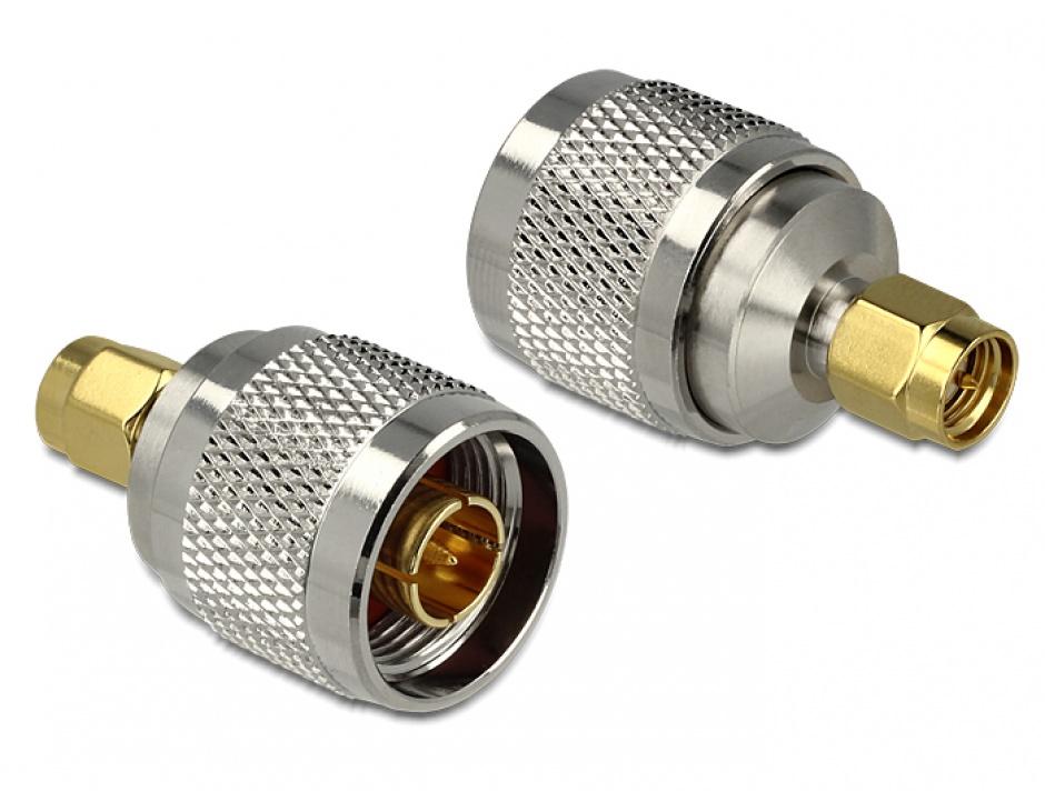 Imagine Adaptor N Plug la SMA Plug, Delock 88831
