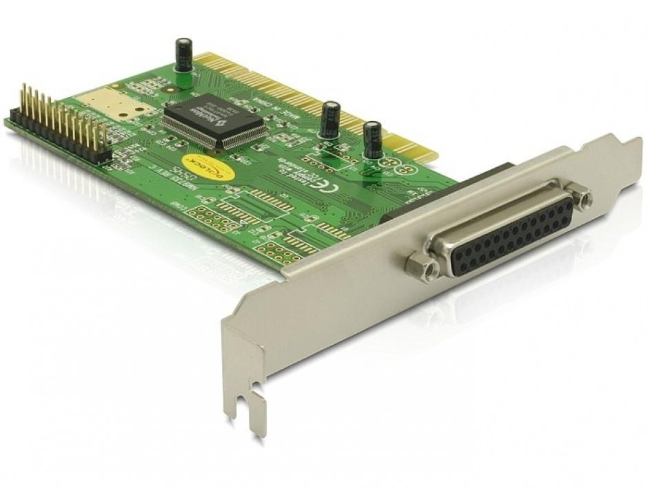 Imagine Placa PCI la 2 porturi paralel DB25, Delock 89016