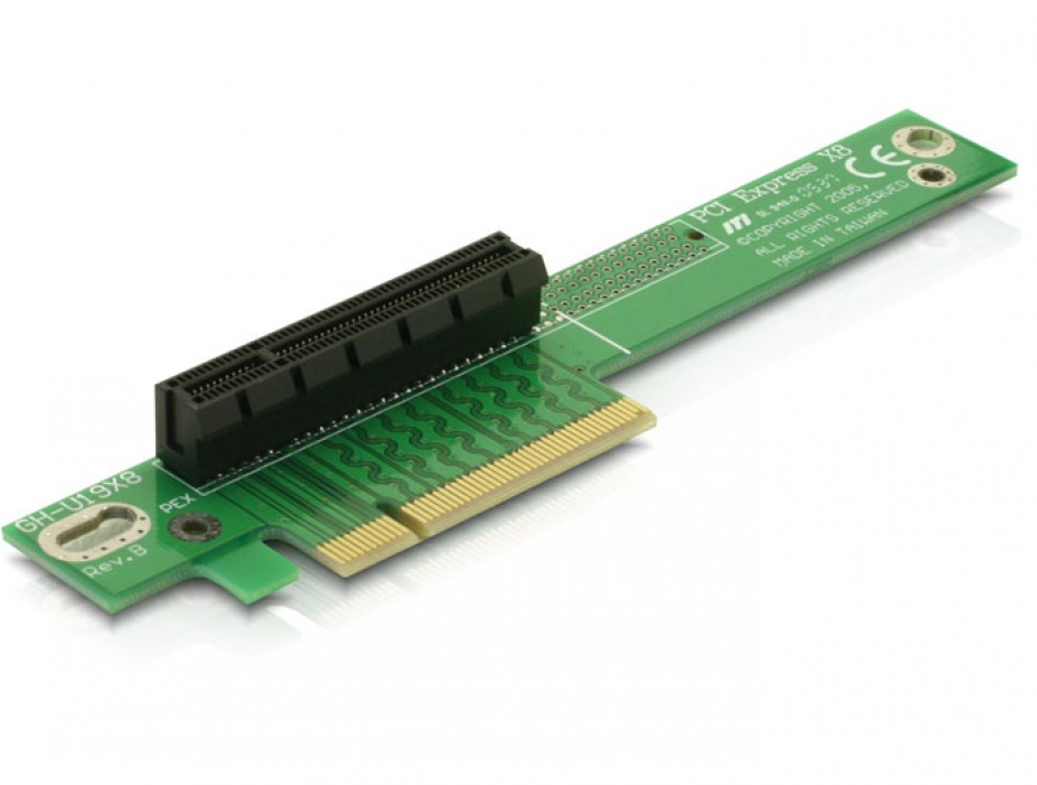 Imagine Riser card PCI Express x8 unghi 90 insertie stanga, Delock 89104