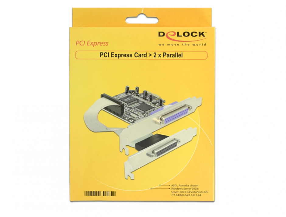 Imagine PCI Express la 2 porturi paralel DB25, Delock 89125