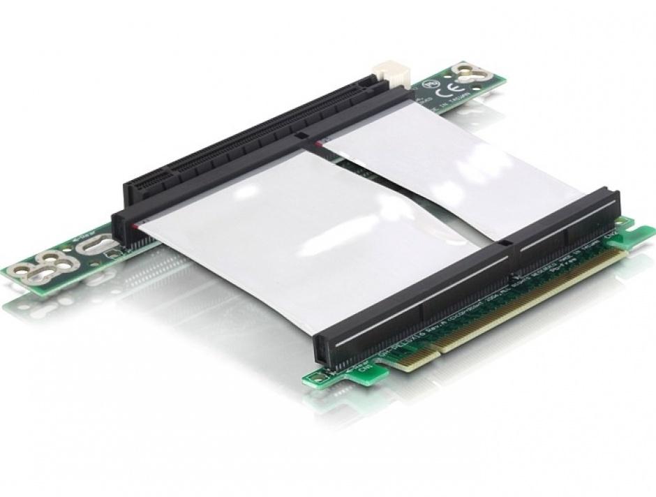 Imagine Riser card PCI Express x16 insertie stanga, cablu flexibil, Delock 89130