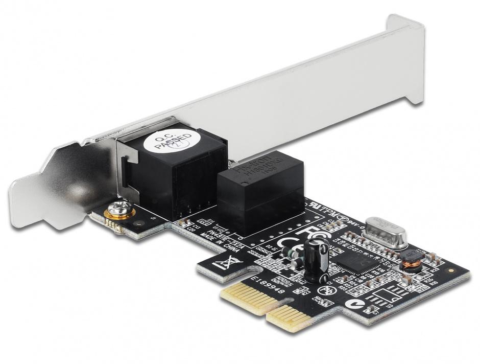 Imagine Placa Retea PCI Express Gigabit, low profile, Delock 89156