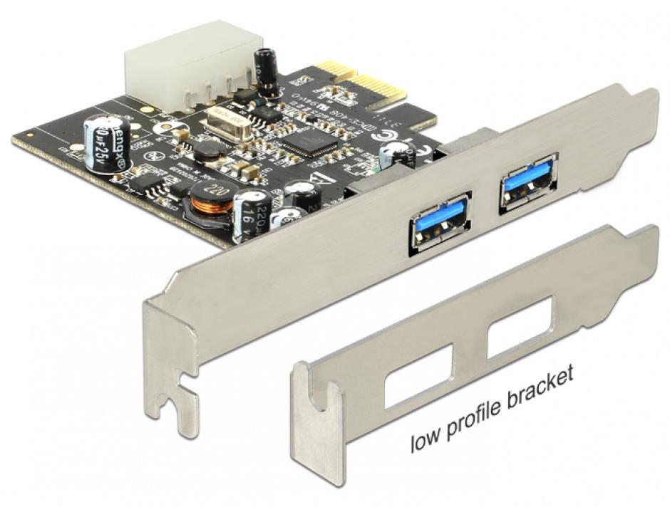 Imagine PCI Express USB 3.0 2 porturi, Delock 89241