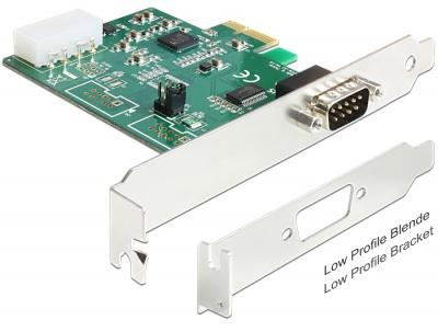 Imagine Placa PCI Express la 1 x Serial RS-232 High Speed, Delock 89333