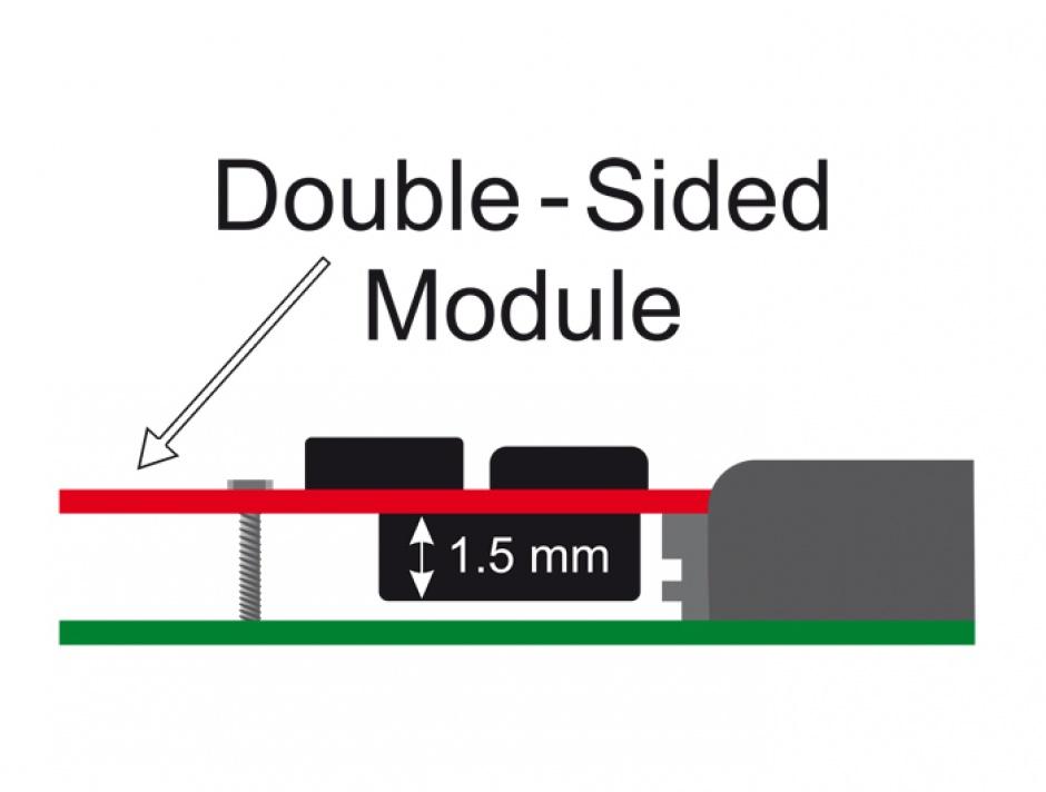 Imagine PCI Express la 1 x M.2 NGFF NVMe intern, Delock 89370