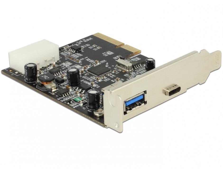 Imagine PCI Express cu 1 x USB tip C 3.1 + 1 x USB-A 3.1 Gen 2, Delock 89417