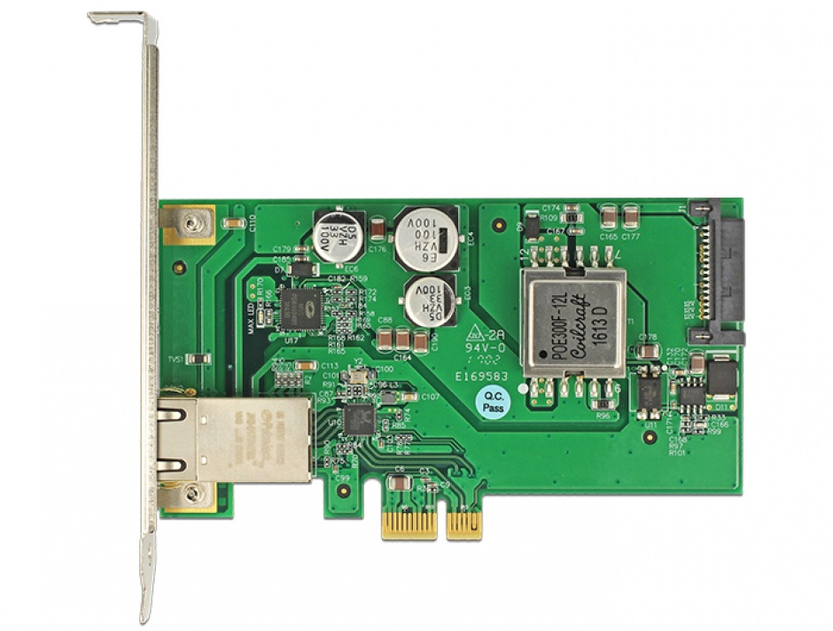 Imagine PCI Express cu 1 port Gigabit LAN PoE+ RJ45, Delock 89594