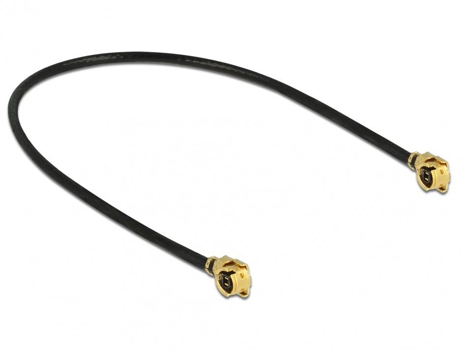 Imagine Cablu antena MHF / U.FL-LP-068 plug la MHF / U.FL-LP-068 plug 10cm 1.13, Delock 89607
