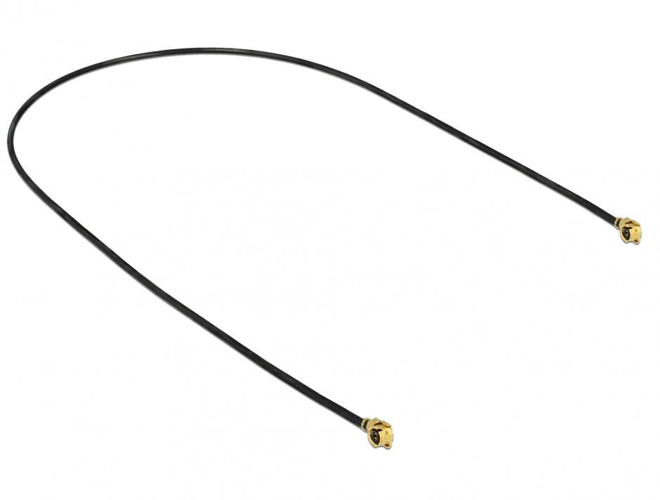 Imagine Cablu antena MHF / U.FL-LP-068 plug la MHF / U.FL-LP-068 plug 30cm 1.13, Delock 89609