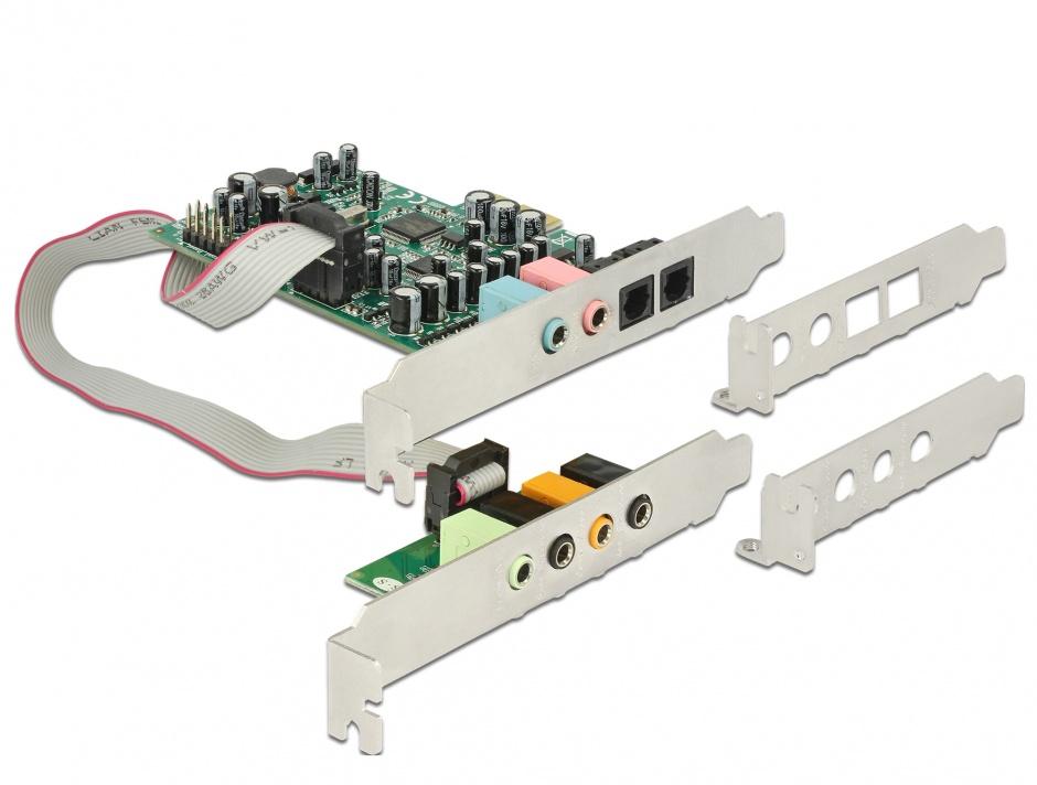 Imagine Placa de sunet PCI Express 7.1  - 24 Bit / 192 kHz cu TOSLINK In / Out, Delock 89640