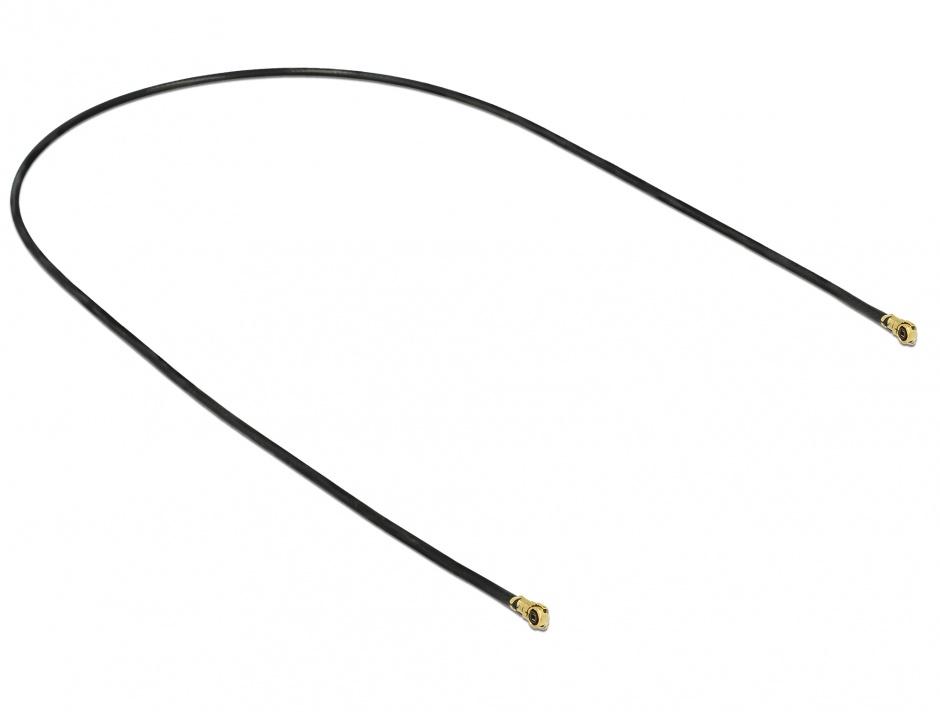 Imagine Cablu antena MHF IV/HSC MXHP32 plug la MHF IV/HSC MXHP32 plug 30cm 1.13, Delock 89644