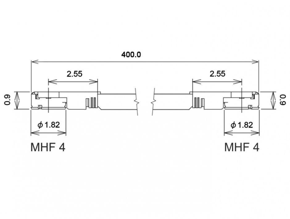 Imagine Cablu antena MHF IV/HSC MXHP32 plug la MHF IV/HSC MXHP32 plug 40cm 1.13, Delock 89645