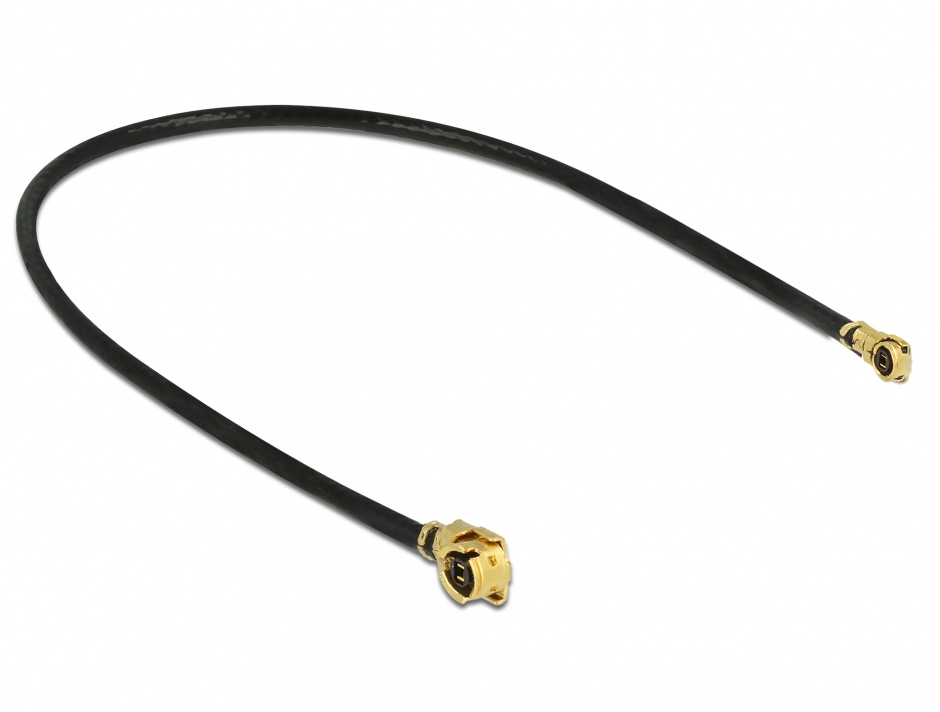 Imagine Cablu antena MHF / U.FL-LP-068 plug la MHF IV/ HSC MXHP32 plug 10cm 1.13, Delock 89647
