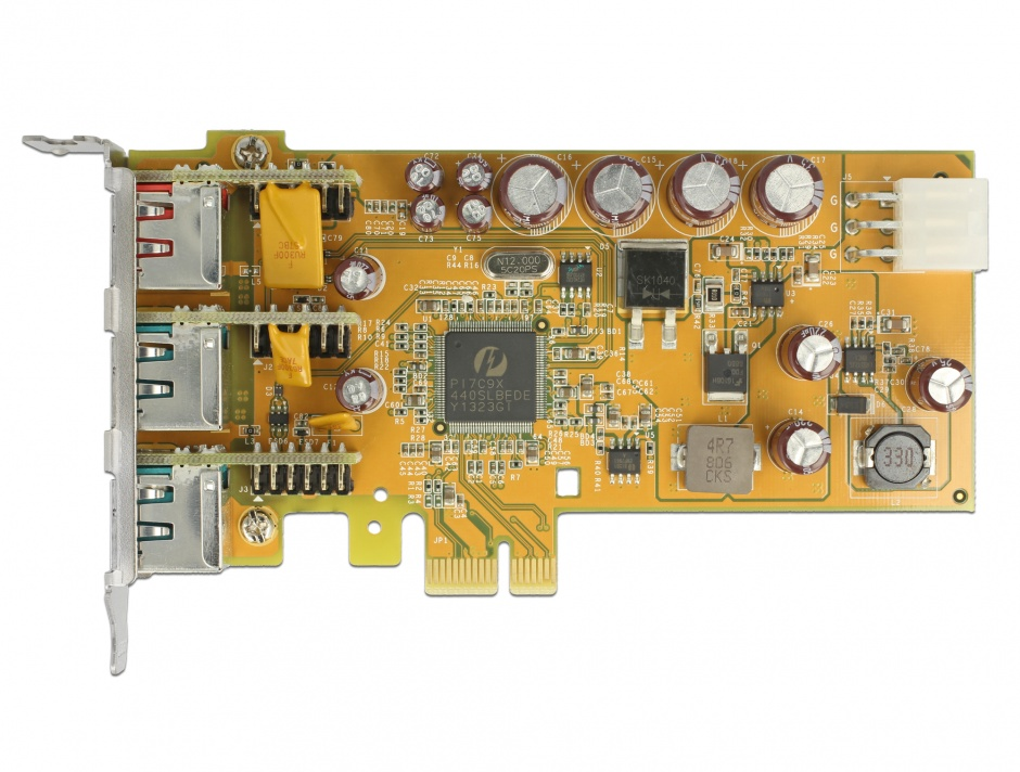 Imagine PCI Express PoweredUSB la 1 x USB 24V + 2 USB 12V, Delock 89655