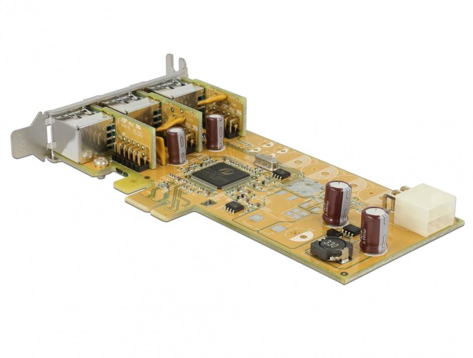 Imagine PCI Express PoweredUSB la 3 x USB 12V, Delock 89656
