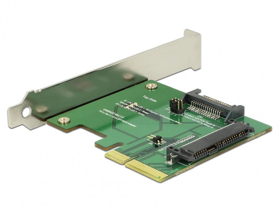 Imagine PCI Express la un port intern mama U.2 NVMe SFF-8639, Delock 89672