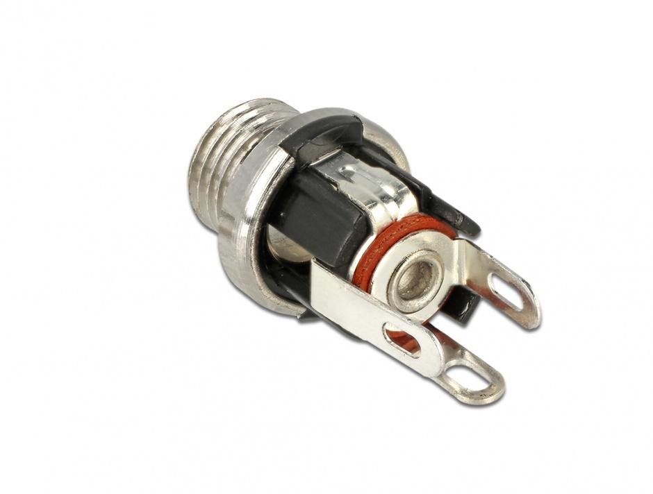Imagine Conector mama DC 5.5 x 2.1 x 9.5 mm bulkhead, Delock 89910
