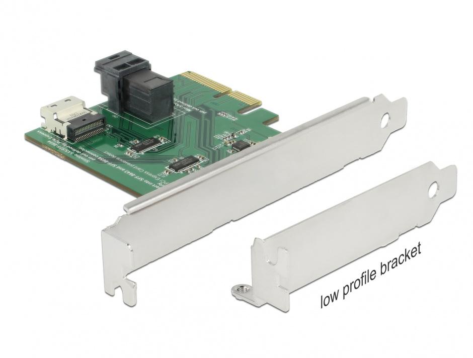 Imagine PCI Express U.2 NVMe la 1 x SFF-8654 4i + 1 x SFF-8643 LPFF, Delock 89923