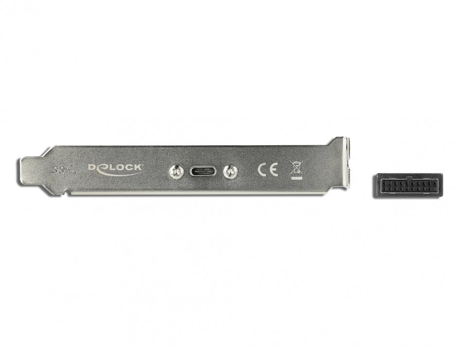 Imagine Bracket cu 1 x USB-C 5V/0.9A, Delock 89937
