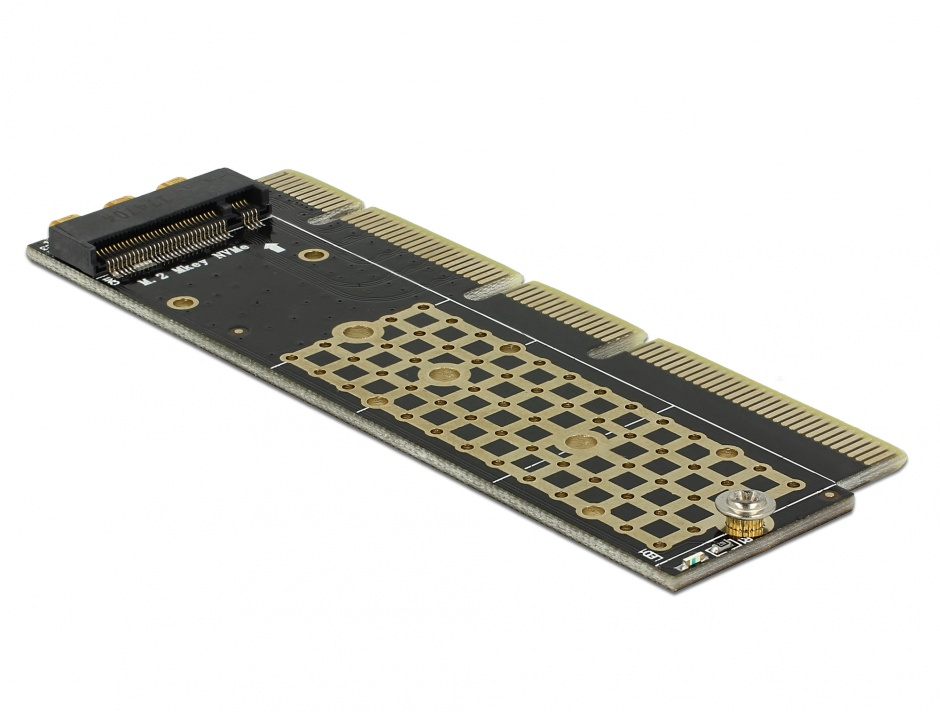 Imagine PCI Express x16 (x4 / x8) la un port NVMe M.2 Key M pentru Server 1U, Delock 90303