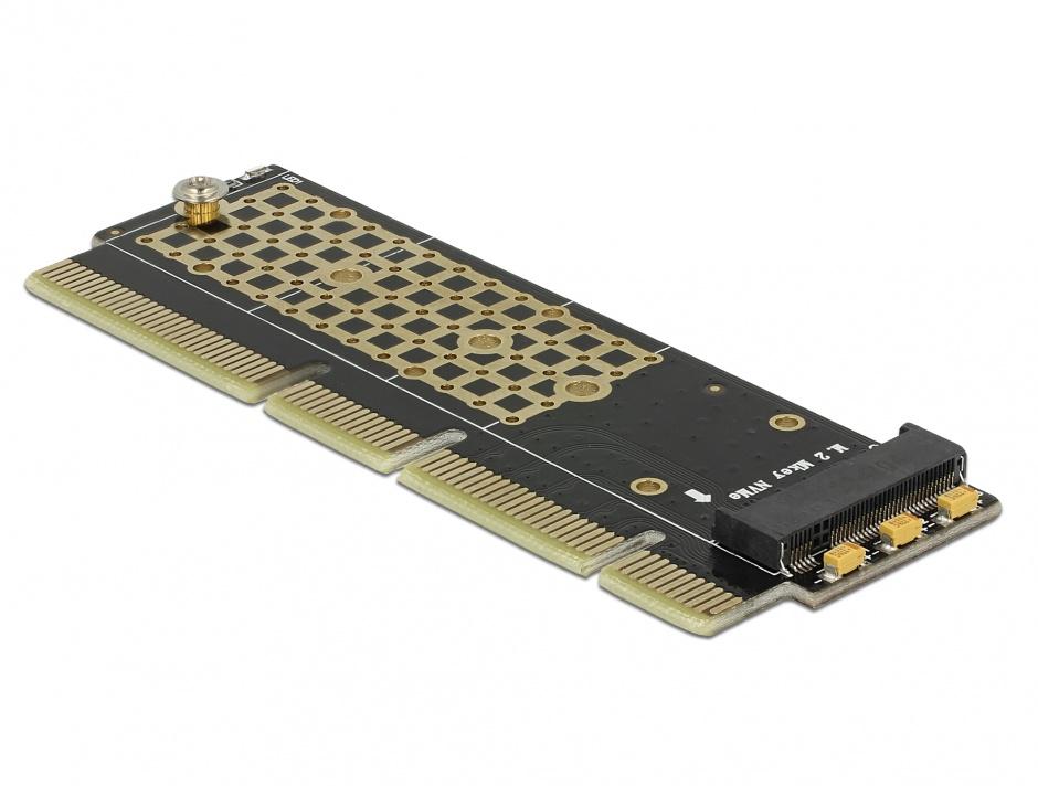 Imagine PCI Express x16 (x4 / x8) la un port NVMe M.2 Key M pentru Server 1U, Delock 90303