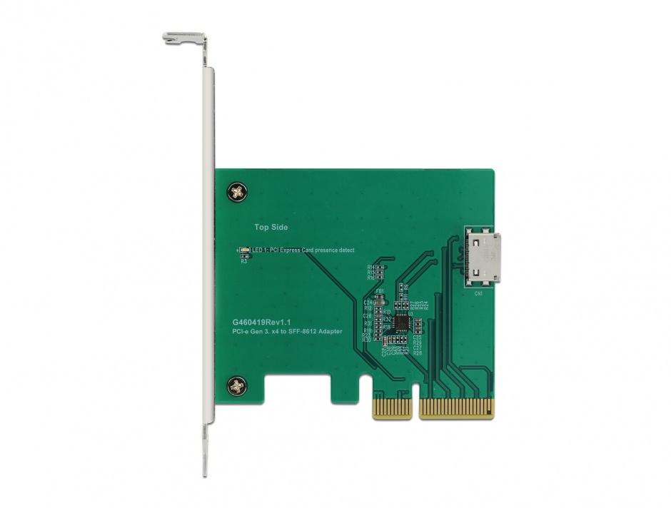 Imagine PCI Express la un port intern OCuLink SFF-8612 NVMe 1.2, Delock 90307