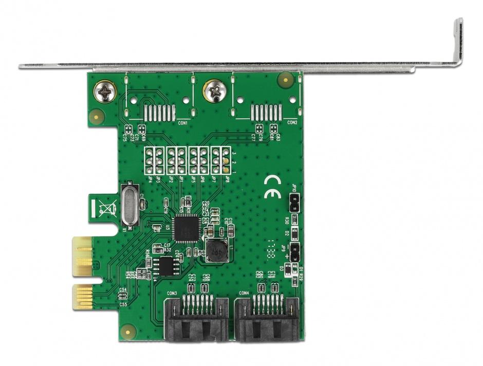 Imagine CI Express cu 2 porturi SATA III cu RAID, Delock 90392