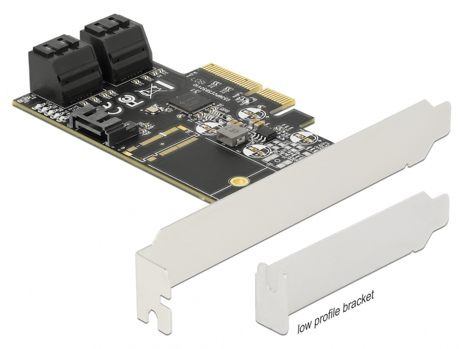 Imagine PCI Express cu 5 porturi SATA III, Delock 90395