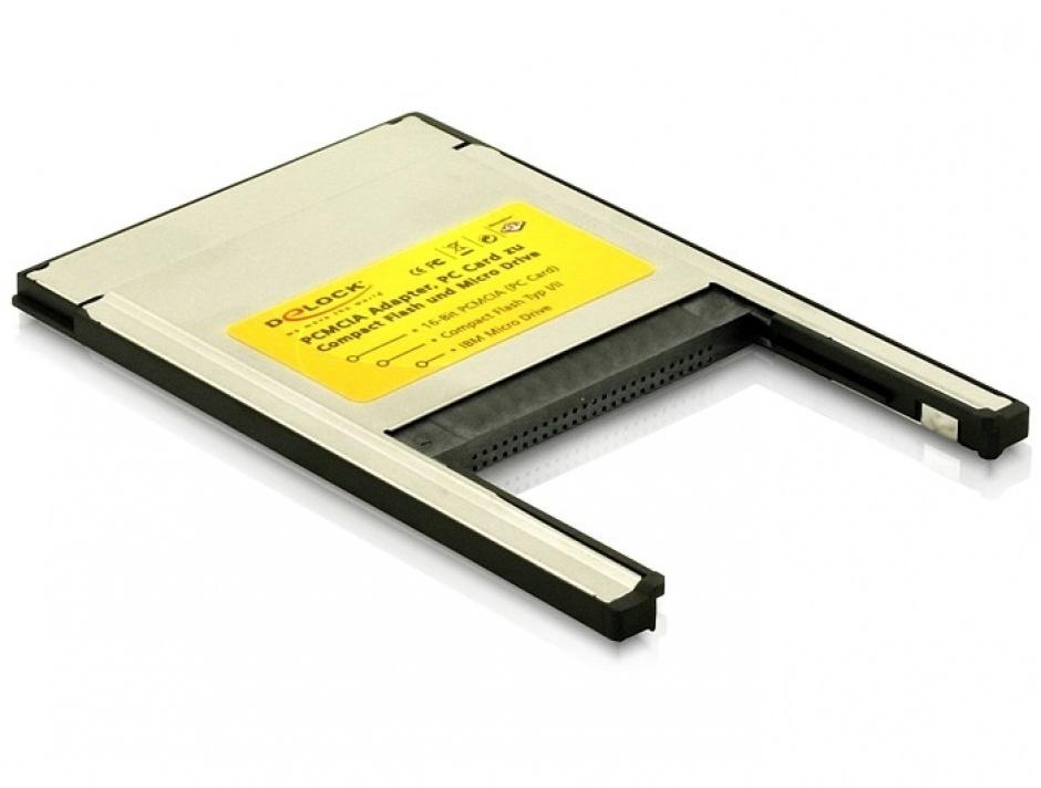 Imagine Cititor de carduri PCMCIA la Compact Flash, Delock 91052