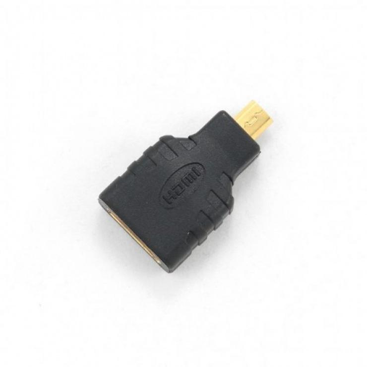 Imagine Adaptor micro HDMI-D la HDMI T-M, Gembird A-HDMI-FD