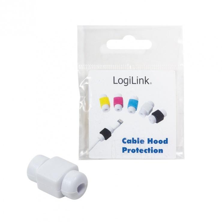 Imagine Protectie pentru cablu USB Alb, Logilink AA0091W